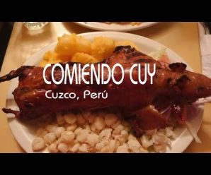 Comiendo CUY en Machu-Pichu, Cuzco #1