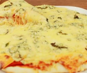 Haz un rica Pizza Casera con Queso (Muy Fácil)